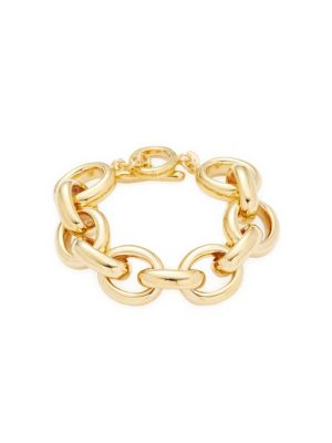 18 K Goldplated Chain Bracelet by Rivka Friedman