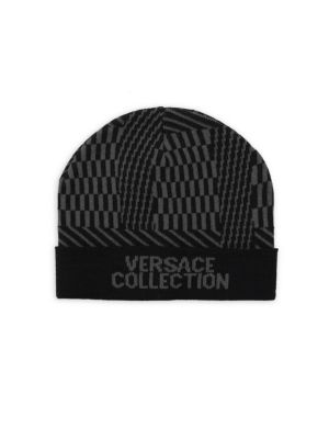 Intarsia Beanie by Versace Collection