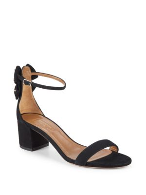 Siena Suede Bow Sandals by Aquazzura