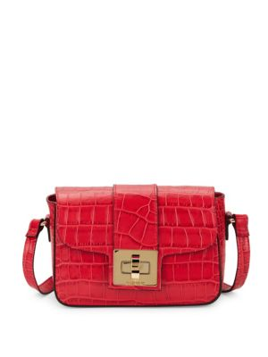 Yasmine Crocodile Crossbody Bag by Valentino By Mario Valentino
