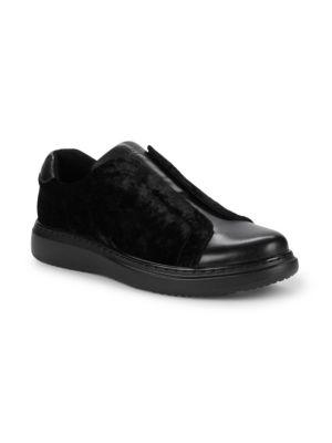 Leather & Velvet Sneakers by Karl Lagerfeld Paris