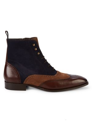 Brogue Leather Boots by Mezlan
