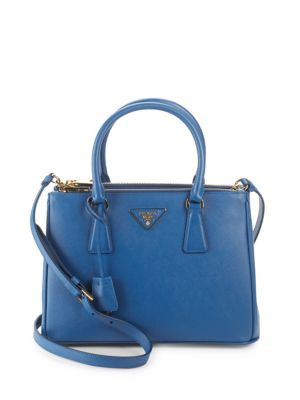 Convertible Leather Tote by Prada