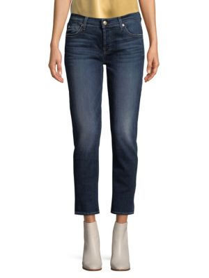 Cropped Straight Leg Jeans by 7 For All Mankind
