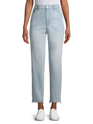 Denim & Terry Combo Pants by Lea & Viola