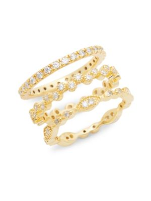 14 K Goldplated Triple Stack Ring by Sterling Forever
