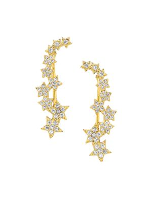 Star Crystal Crawler Earrings by Sterling Forever