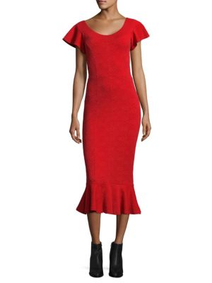 Medallion Jacquard Flounce Dress by Opening Ceremony