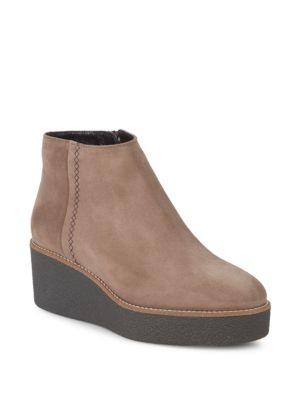 Vina Suede Platform Booties by Aquatalia