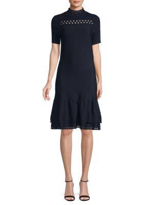 Amity A Line Ruffled Dress by Sandro
