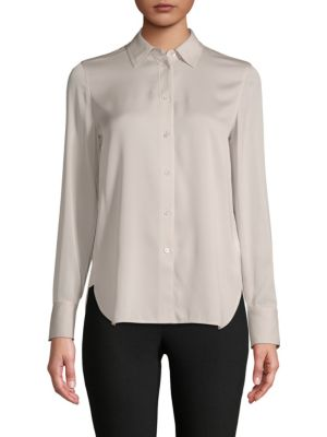 Classic Stretch Silk Shirt by Vince