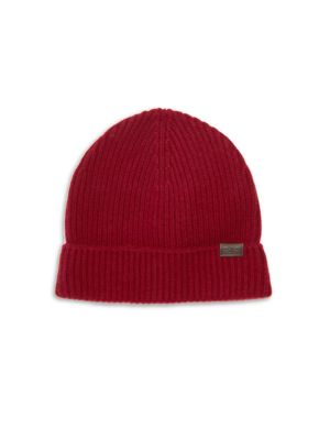 Ribbed Cashmere Beanie by Hickey Freeman