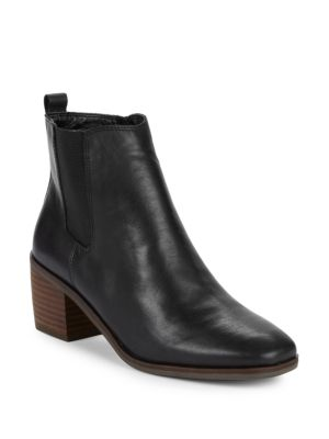 Mekinly Leather Booties by Lucky Brand