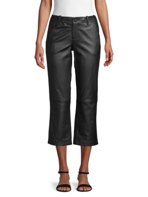 cropped-leather-pants by zadig-&-voltaire