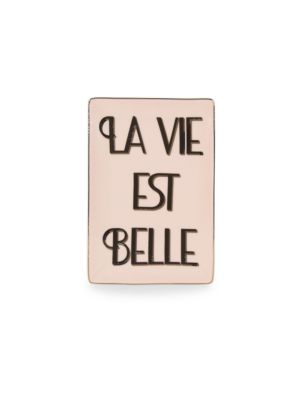La Vie Est Belle Porcelain Tray by Rosanna