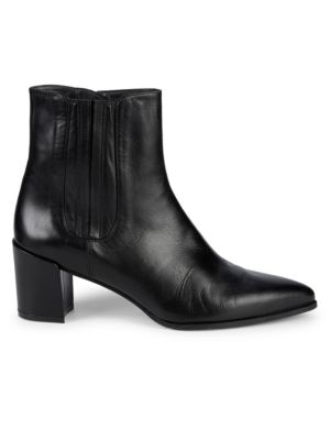 Catch Leather Tie Back Booties by Stuart Weitzman
