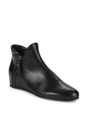 "Lowkey Leather Hidden Wedge Heel Boots/1"" by Stuart Weitzman"