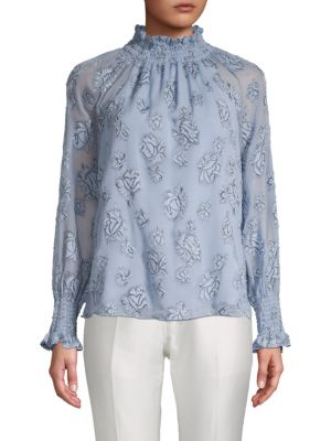 Floral Print Raglan Sleeve Top by Rebecca Taylor