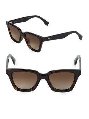 Classic 50 Mm Cat Eye Sunglasses by Fendi