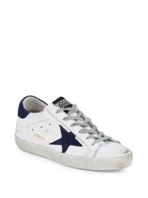 Superstar Distressed Leather Sneakers by Golden Goose Deluxe Brand