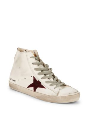 Star Leather High Top Sneakers by Golden Goose Deluxe Brand