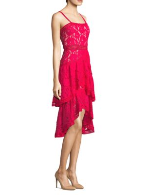 Lace Asymmetrical Midi Dress by Alice + Olivia