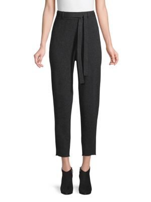 Belted Cashmere Cropped Pants by Naadam