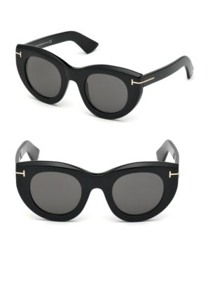 Marcella 48 Mm Thick Cat Eye Sunglasses by Tom Ford Eyewear