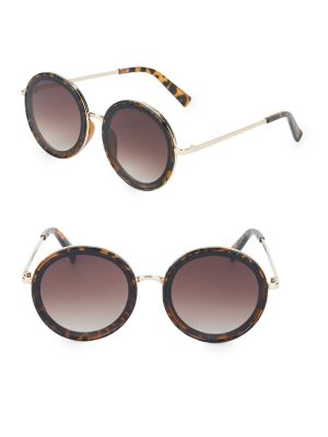 57 Mm Round Sunglasses by Fantas Eyes