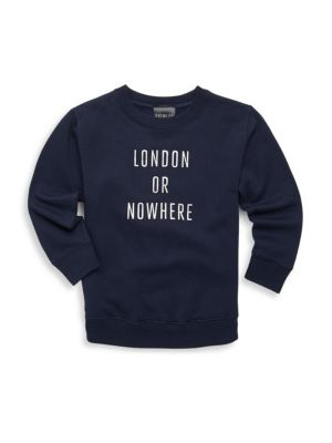 Little Girl's & Girl's London Or Nowhere Sweatshirt by Knowlita