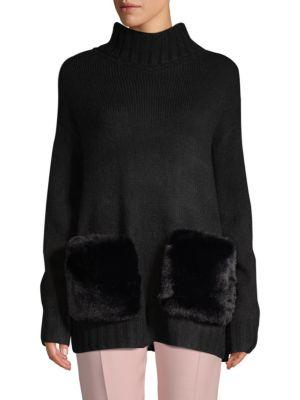Faux Fur Pocket Turtleneck by Saks Fifth Avenue