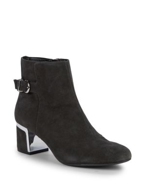 Celeste Round Toe Suede Booties by Dkny