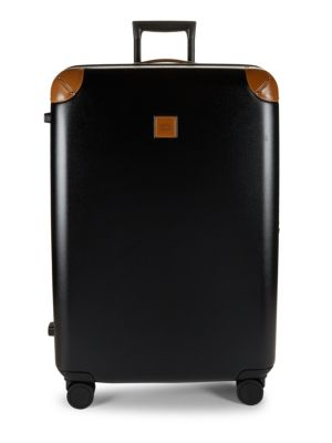 30 Inch Leather Trimmed Spinner Suitcase by Bric's