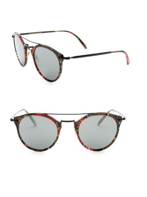 Alain Mikli 50 Mm Palmier Red & Black Sunglasses by Oliver Peoples