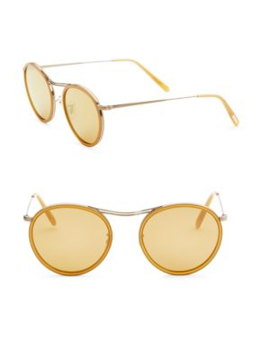 51 Mm  Round Sunglasses by Oliver Peoples