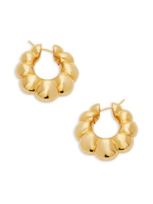 Ribbed Hoop Earrings by Sphera Milano