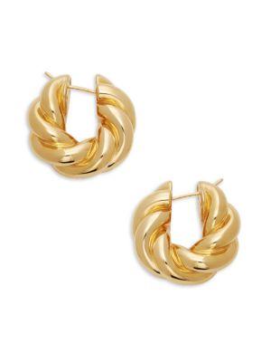 Twist Hoop Earrings by Sphera Milano