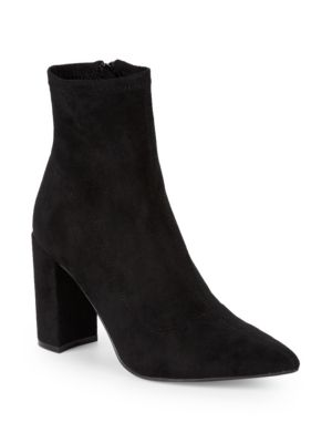 Clareese Suede Point Toe Ankle Boots by Steve Madden