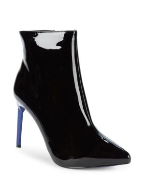 Helen Faux Patent Leather Stiletto Ankle Boots by Bcb Generation