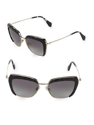 Croco Embossed 53 Mm Square Sunglasses by Miu Miu