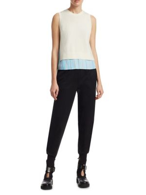 Stripe Silk & Knit Top by 3.1 Phillip Lim