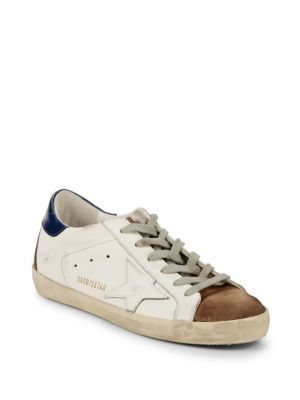 Low Top Leather Sneakers by Golden Goose Deluxe Brand