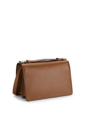 Pebbled Leather Boxed Shoulder Bag by Moschino
