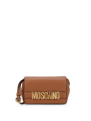 Pebbled Leather Boxed Mini Bag by Moschino