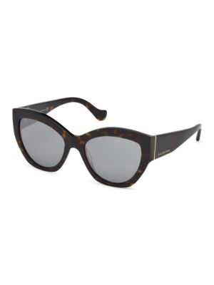 56 Mm Mirrored Cat Eye Sunglasses by Balenciaga