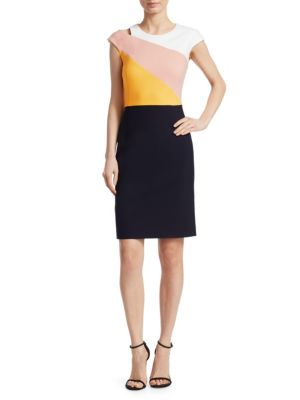 Cutout Colorblocked Dress by Boss Hugo Boss