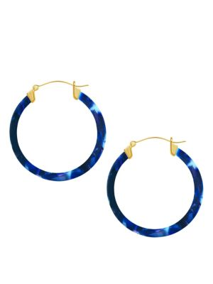 Printed Hoop Earrings by Sterling Forever