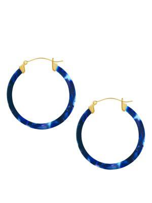 Printed Hoop Earrings by Sterling Forever