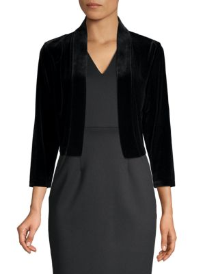 Open Front Velvet Shrug by Calvin Klein