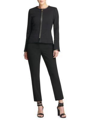 Fall 18 Ponte Zip Jacket by Donna Karan